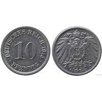 YS: Германия, Рейх, 10 пфеннигов 1915F, KM# 12
