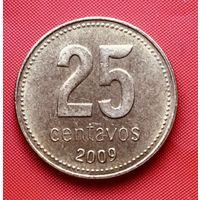 18-01 Аргентина, 25 сентаво 2009 г.