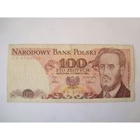 Банкнота 100 злот,Польша, 1986 г.