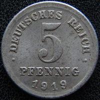 YS: Германия, 5 пфеннигов 1919D, KM# 19 (2)