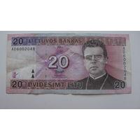 Литва 20 литов 2001