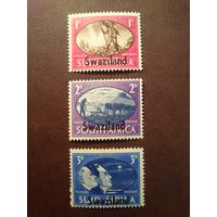Южная Африка 1945 г.Мир.Надпечатка Свазиленд.