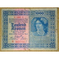 1000 крон 1922г