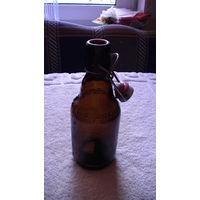 """Бутылка """"Flensburder"""" 0.33. коричневая распродажа"""
