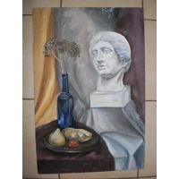 Картина маслом на холсте и картоне, 30х60 см.