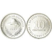 Никарагуа 10 сентаво 1987 UNC