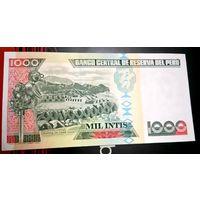 Перу 1000 Инти 1988, unc