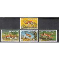 Сенегал WWF Газели 1986 год чистая полная серия из 4-х марок
