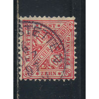Вюртемберг Германия Служебные 1881 Номинал #203