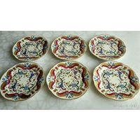 6 тарелок Schlaggenwald (Lippert&Haas) Богемия, Чехия. Первая половина 19 в. Ручная роспись.