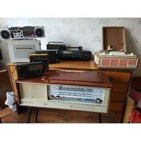 Радиола Кантата проигрыватель концертный радиоприемник магнитофон