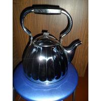 Чайник латунь никелированный. 4 л.