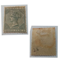 Старая марка, из ранних, нечастая, Бермудские острова 1883 -1898 Queen Victoria - New Watermark!!! MH!!! Оригинал!!!
