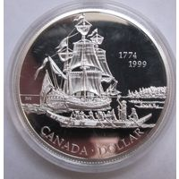 Канада, доллар, 1999, серебро, пруф