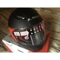 LS2 шлем для мотоцикла размер S черный матовый