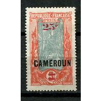 Французские колонии - Камерун - 1924 - Надпечатка 25С на 5F (разновидность надпечатки) - 1 марка. Чистая без клея.  (Лот 112J)
