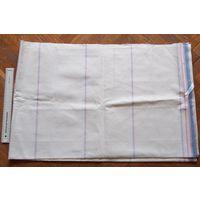 Отрез плотной ткани для постельного белья. Лицевая стороная и изнанка одинаковые