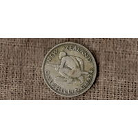 Новая Зеландия 1 шиллинг 1934 /АБОРИГЕН/ГЕОРГ V/серебро//Н/