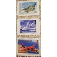 3 карманных календаря  British Antarctic Territiry.