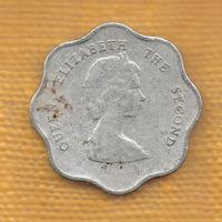 Карибы Карибские острова 5 центов 1995 Королева Молодая