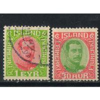 Дания Исландия Уния 1920 Христиан X Стандарт #83,93