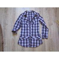 Туника-рубашка. Рубашка-платье, р.44. В идеальном состоянии!