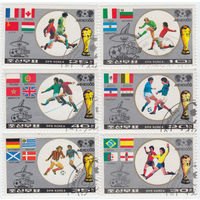 Корея серия из 6 марок 1986 Чемпионат мира по футболу, Мексика-86