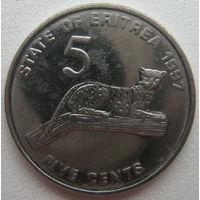 Эритрея 5 центов 1997 г.