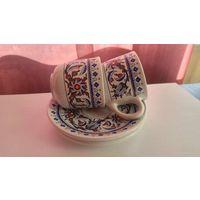 Кофейные чашки с блюдцем-2шт, Турция