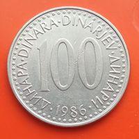 100 динаров 1986 ЮГОСЛАВИЯ