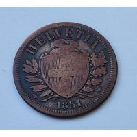 Швейцария 2 раппена, 1851 7-5-34