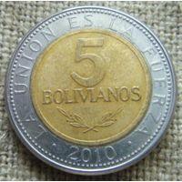 5 боливиано 2010 Боливия