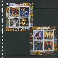 Metallica Рок Музыка Звёзды 2003 Бенин MNH полная серия 8 м зуб 2 листка ЛОТ РАСПРОДАЖА