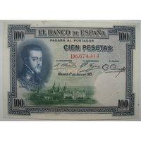 Испания 100 песет 1925 г. (d)