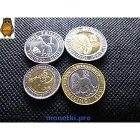 Кения, комплект из 4-х монет 2018 года. Животные