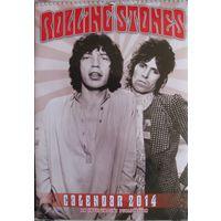 Настенный календарь Rolling Stones на 2014 год.
