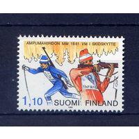 Финляндия 1980 1981 Спорт Лыжи Биатлон Винтовка **