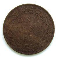 1907 г. 1 цент. Канада