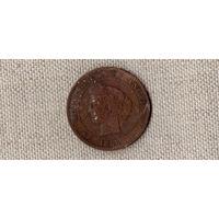 Франция 10 сантимов 1888//(Oct)