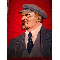 Редкий старинный Агитационный ковер Ленин