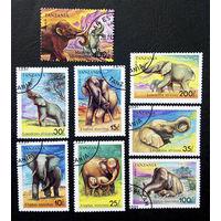 Танзания 1991 г. Слоны. Млекопитающие. Фауна, полная серия из 8 марок #0268-Ф1P59
