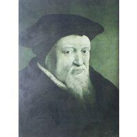 Предполагаемый портретъ Ульриха Цвинглли.   28х18см.