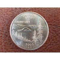 1/4 доллара 2005 США ( Квотер штата Орегон ) P