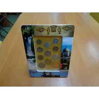 Подарочная керамическая рамка с подборкой монет