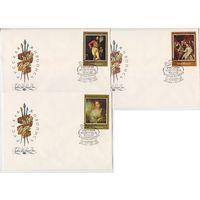 СССР 1982 FDC 3 КПД серия русская живопись Федотов Кипренский Боровиковский