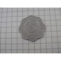Восточно Карибские штаты 5 центов 1995г.km12