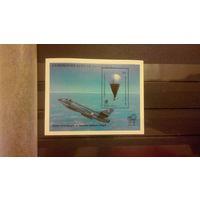 Самолеты, авиация, транспорт, техника, марки, Доминика, 1983, блок