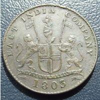 Британская индия. 5 кэш 1803