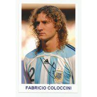 Fabricio Coloccini(Аргентина). Живой автограф на фотографии.