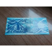 Барбадос 2 доллара 2013 год состояние UNC
